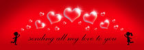 Sending All My Love - Bubble Hearts von Amy Sagan