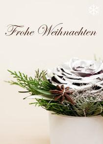 Weihnachtskarte Sternanis von Sonja Dürnberger
