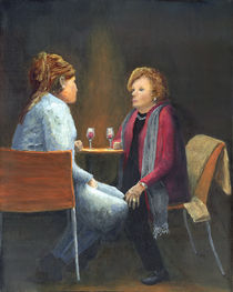 Two Women Talking by Peter Worsley