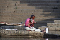Morning Rituals on the Banks of the Ganges by David Robinson