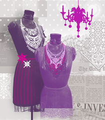 winter violet wardrobe by Kasia Mular