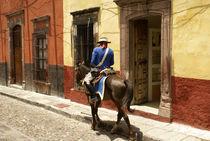 MAN ON HORSEBACK San Miguel de Allende Mexico by John Mitchell