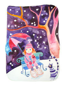 Ginger girl in the snow von Jana Nikolova