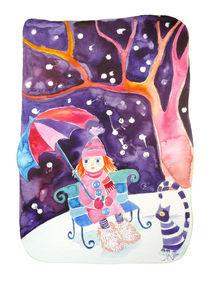 Ginger girl in the snow by Jana Nikolova