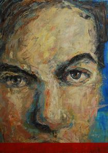 Self portrait (Red line) by Panagis Antypas