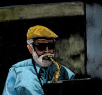 Sir Rich on Saxophone by Lynn DeBeal