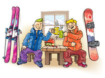 Skier and snowboarder by Oleksiy Tsuper