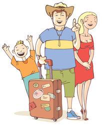 Tourist's family by Oleksiy Tsuper