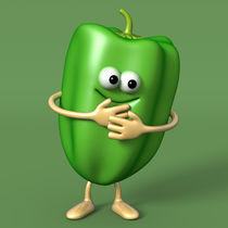 GREEN PEPPER by Michel Agullo