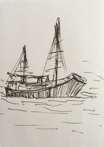 sketch of a ship by Hacer Merve Alanyal?