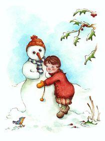 Weihnachten - Ein Schneemann als Freund von Katja Kiefer
