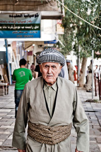 An old Kurdish man from Dohuk by Riccardo Valsecchi