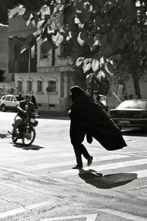 Black and White: Woman in Tehran by Riccardo Valsecchi