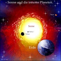 Sonne und die inneren Planeten. von Bernd Vagt