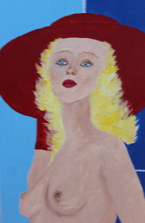 Roter Hut - Blondes Haar von Lutz-Rüdiger Hoffmann