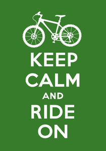 Keep Calm and Ride On - olive by Andi Bird