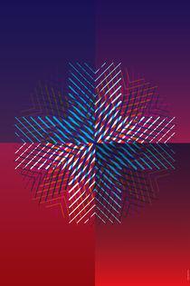 CMYK Snowflake by Matthew Terdich