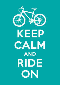 Keep Calm and Ride On - turquoise by Andi Bird