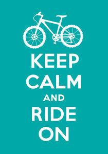 Keep-calm-ride-on-turq