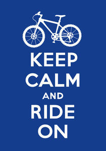Keep Calm and Ride On - navy by Andi Bird