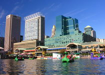 Baltimore Skyline On A Sunny Afternoon by Larry Eiring