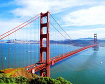 The Majestic Golden Gate Bridge by Larry Eiring