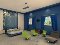 Blue Bedroom by Nabil Najm ElKhidrami