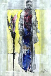 Junger Mönch mit Blume by Edgar Piel
