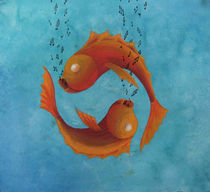 Goldfish love by Serge Vandenberghe
