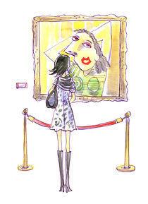 Looking at a Painting by sheena hisiro