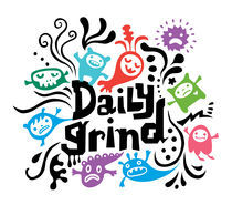 Daily Grind - white von Andi Bird