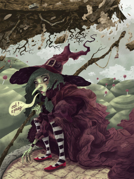 Wicked Witch Drawings Wicked Witch of East Color