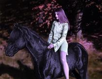 Mädchen mit Pferd von Dorothee Rund
