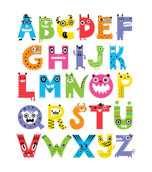 Alphabet-monsters