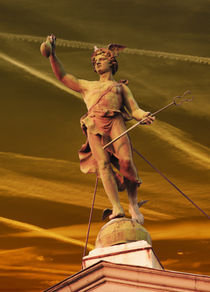 Hermes on the top of Fonciére Palace von István Balogh