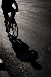 Cyclist Shadow by luisgarciacraus