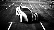 Aero Ace Concept Car (B&W) by Gabriel Tam
