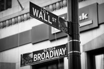 Wall street & Broadway by Christoph Haberthuer