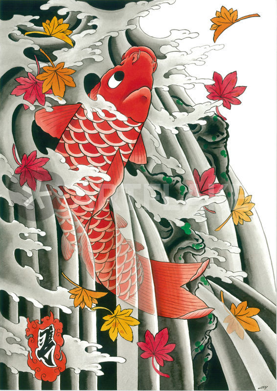 Quot Japanese Koi And Momiji Maple Leaves Quot Painting Art