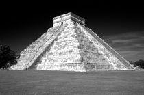 CHICHEN ITZA PYRAMID Yucatan Mexico by John Mitchell