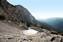 Theater in Delphi by Eduard Warkentin