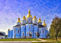 St Michael's Gold-domed Monastery, Kiev, Ukraine by Graham Prentice