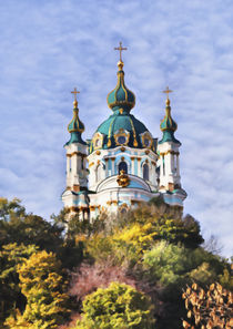St Andrew's Church, Kiev, Ukraine by Graham Prentice