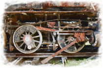 Classic train wheels by Graham Prentice