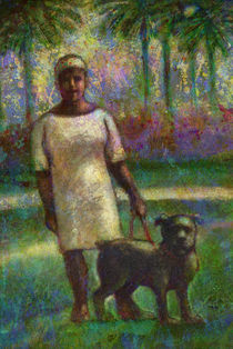 Black woman with dog. von natogomes