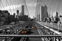Cabs on Brooklyn Bridge by winterimages