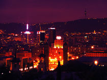 Barcelona view by night by marga-sol