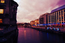 Purple sky over Berlin by marga-sol