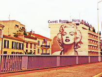 Merlin Monro on the wall of Cannes by marga-sol