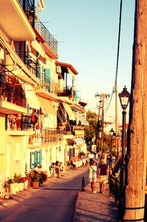 Old City street of Parga, Greece von marga-sol